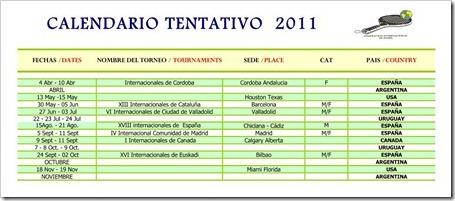 calendario federacion internacional de padel 2011 fip