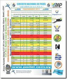 calendario asociacion de padel uruguay 2011