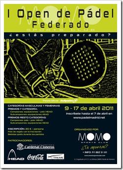 CARTEL I TORNEO padel FEDERADO momo sports club 2011 [800x600]
