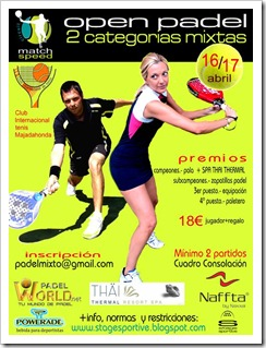 4º open match speed mixto inter 16 y 17 abril