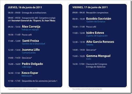 programa congreso deporte entrenador 360º barcelona 2011