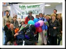Powitanie 4B na lotnisku
