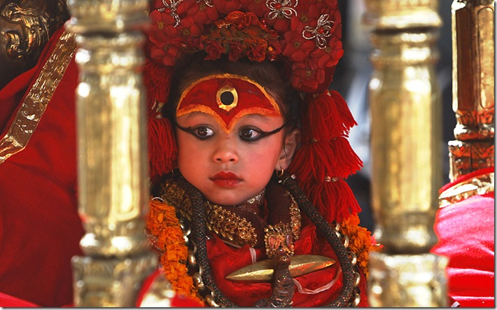 APTOPIX Nepal Living Goddess