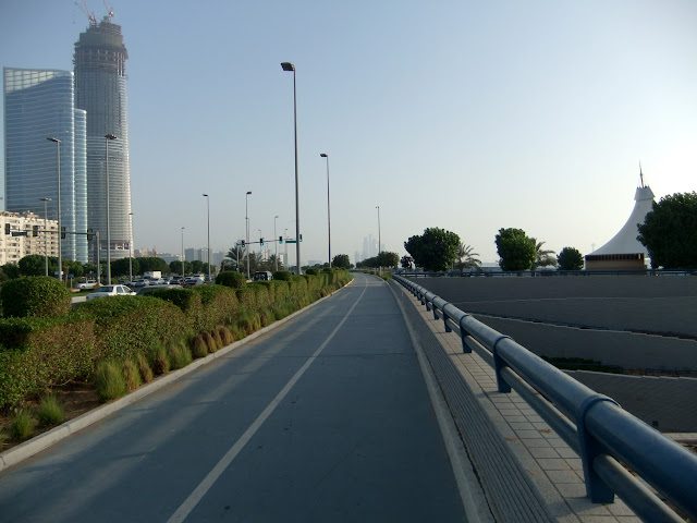 Abu Dhabi corniche bicycle track.