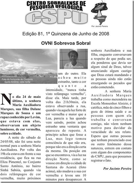 Edição 81, 1ª Quinzena de Junho de 2008