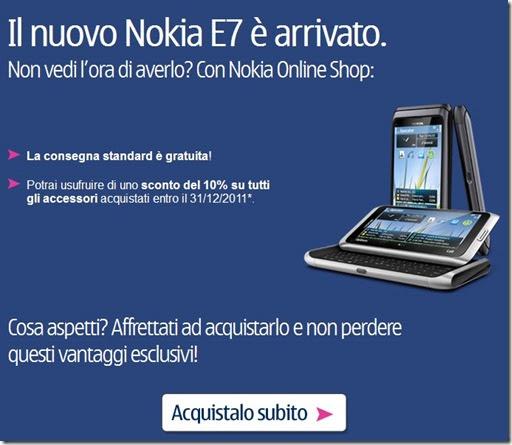 Nokia e7 prezzo imbattibile e sconti sugli accessori con for Libri acquisto online sconti