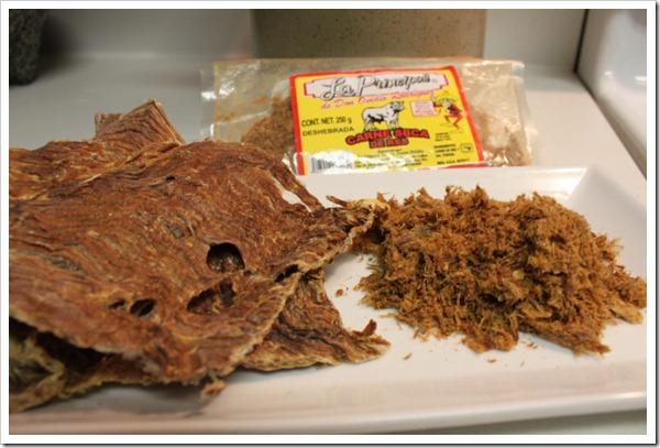 Carne seca dry meat jerky