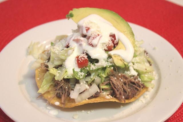 in My Kitchen: Beef Tostadas: a Comfort Food / Receta de Tostadas ...