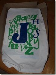 alphabet shirt painted