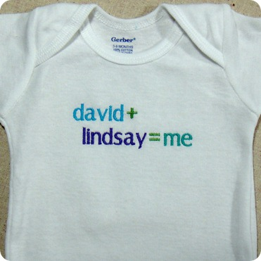 Custom Embroidered Baby Boy Onesie
