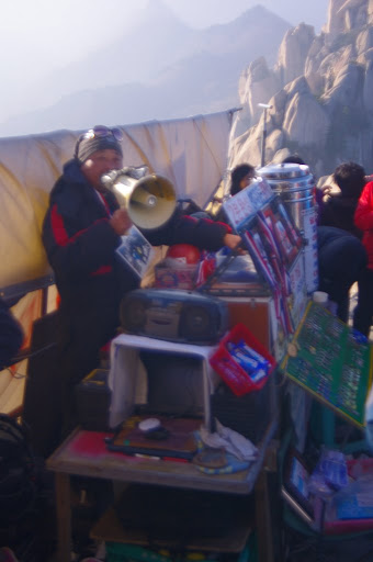 Vendors at the top of Ulanbawi