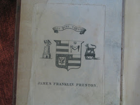 Ex-libris de James Franklin Preston