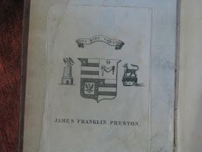 Ex-libris de James Franklin Preston