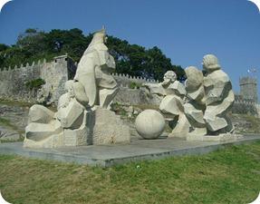 Monumento encontro entre 2 mundos