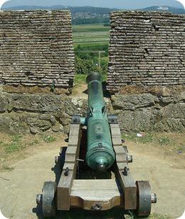 Canhão preservado da Fortaleza
