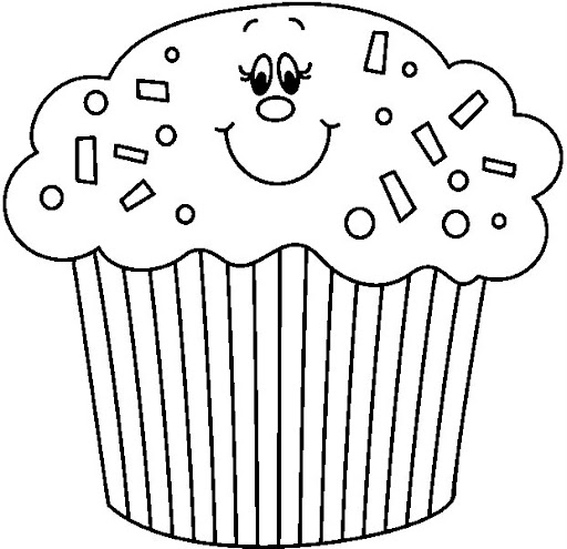 Dibujos cupcakes para colorear - Imagui