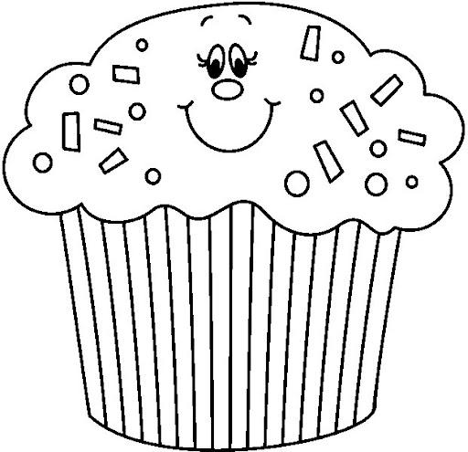 Dibujos de cupcakes para colorear e imprimir - Imagui