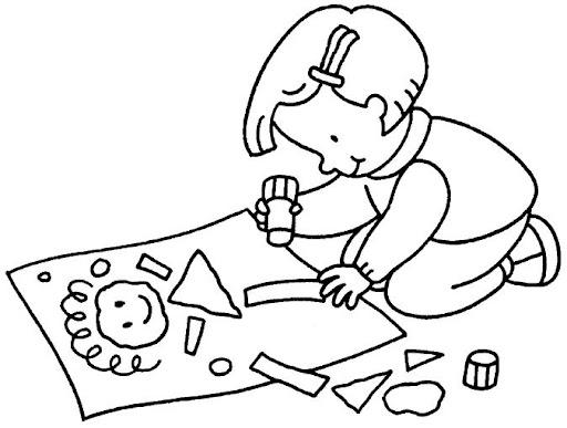 Niño haciendo su tareas para colorear - Imagui