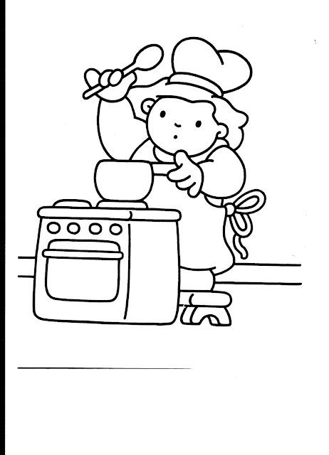 Dibujos con actividades infantiles para pintar for Cocinar para 5 personas