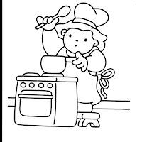 Dibujos con actividades infantiles para pintar for Cocinar para 40 personas