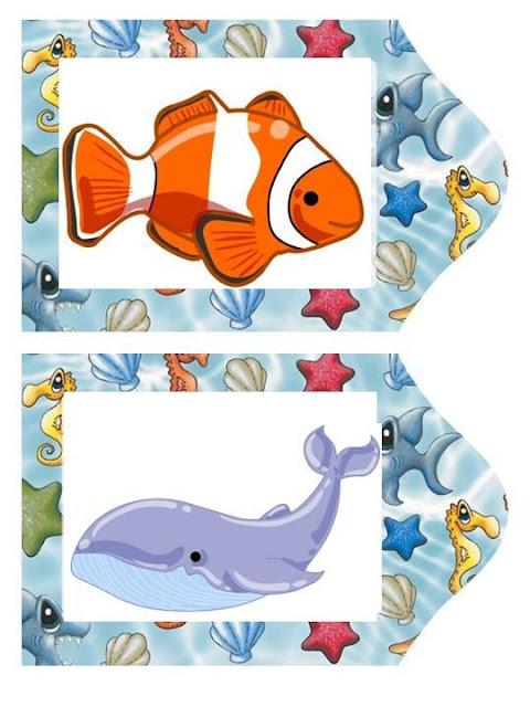 Laminas pintadas de animales marinos for Agarraderas para ninos