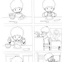 comer un flan-comida