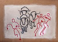 Pamplona 4 - acrilico su cartone - 23x32 cm (non ancora terminato)