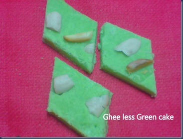 Ghee less Green Cake