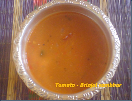Tomato - Brinjal sambhar