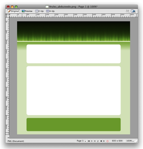 Create website layout in Adobe fireworks