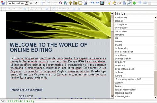 Xinha WYSIWYG HTML editor