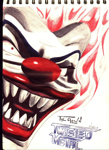 evil clown tattoos. evil jester tattoo designs.