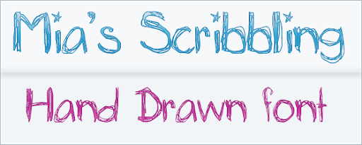 Mia's Scribblings- Free Hand Drawn Font
