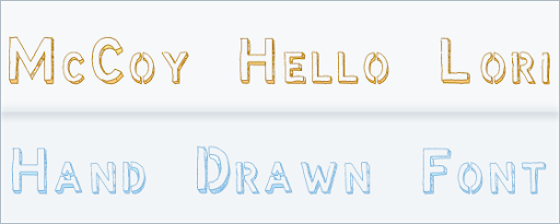McCoy - Hello Lori- Free Hand Drawn Font