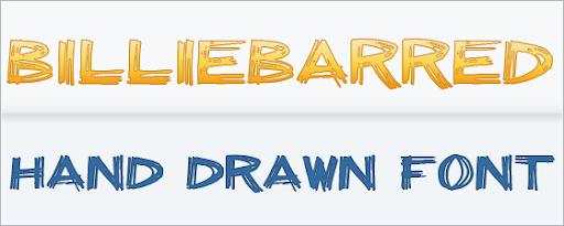 billieBarred : Hand written font