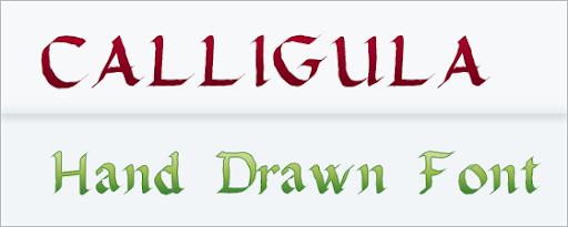 Calligula : Handwritten font