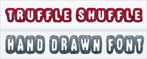 Truffle Shuffle : hand Drawn Font