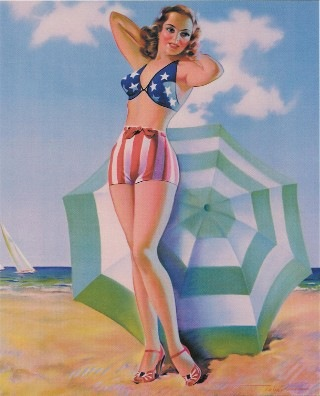 1940 patriotic pinup girl