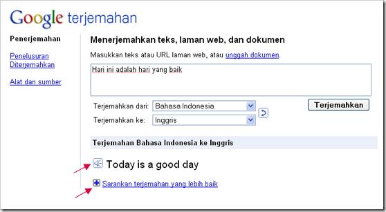 terjemahan dengan google translate