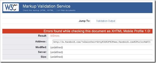 facebook invalid html