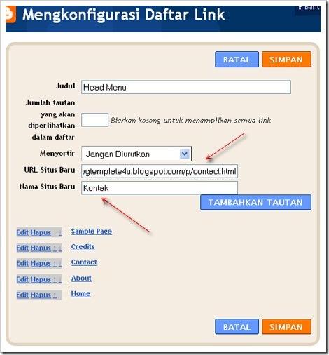 konfigurasi menu navigasi