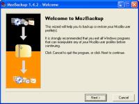 mozbackup tool