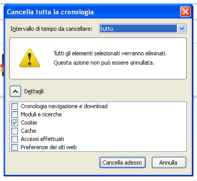 Come eliminare i file cookie dal PC