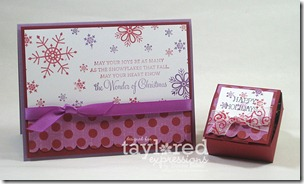snowflake card &amp; treat
