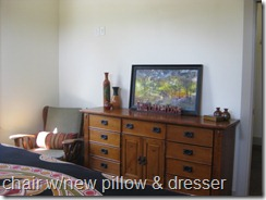 chair & dresser