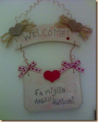 targhetta welcome