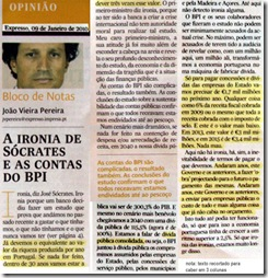 A ironia de Sócrates e as contas do BPI