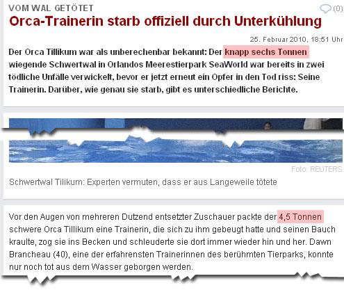 knapp sechs Tonnen - 4,5 Tonnen schwer - welt.de