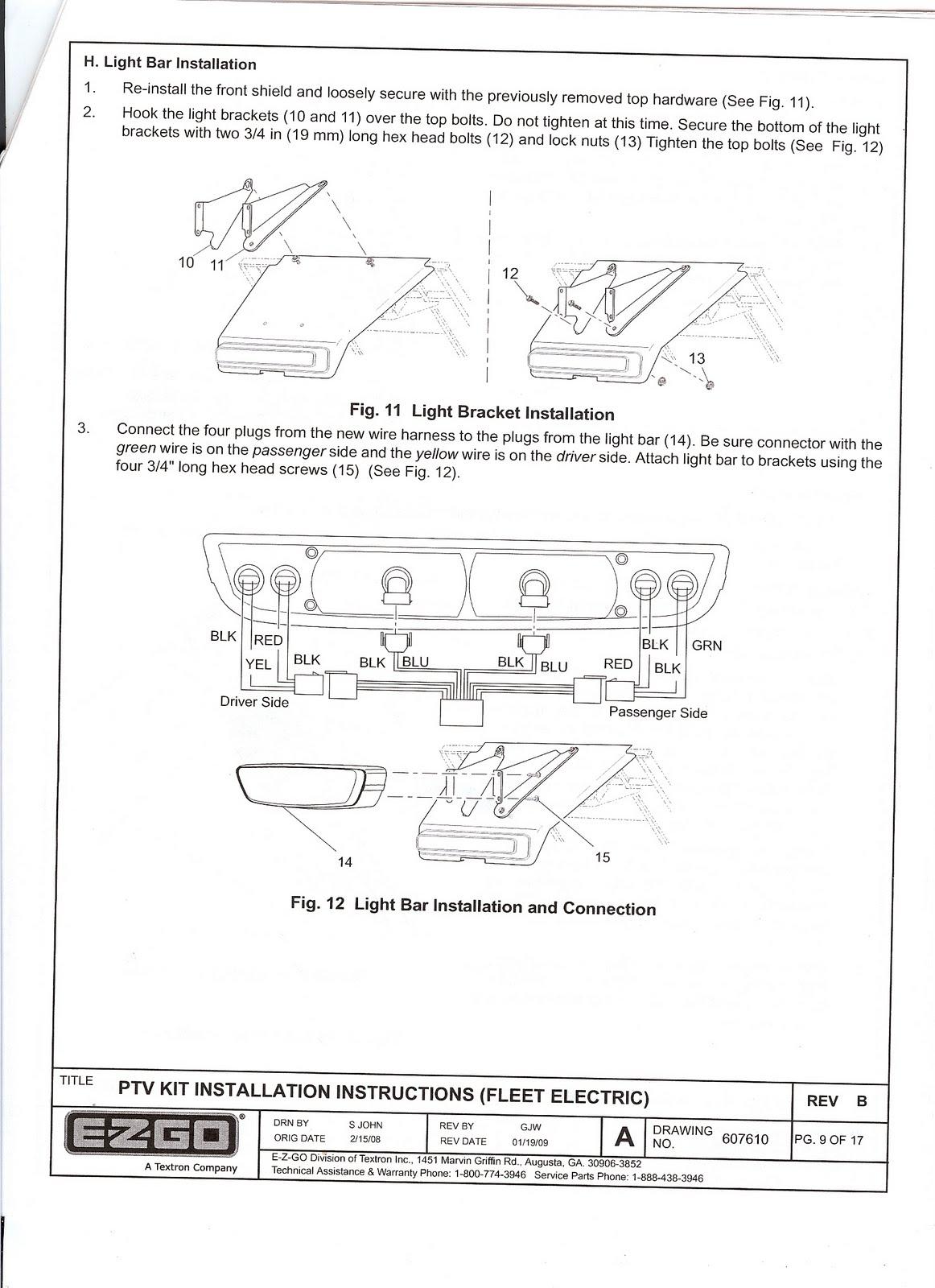 EZGO Freedom Light Kit Installation Instructions on westinghouse light kit wiring diagram, yamaha light kit wiring diagram, ezgo light kit installation, bad boy light kit wiring diagram,