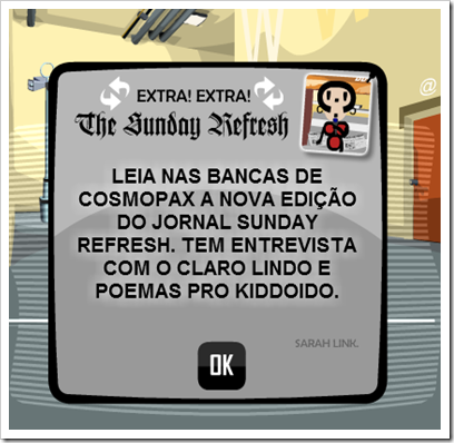 Mensagem do The Sunday Refresh